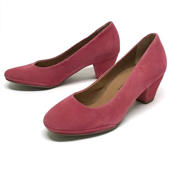 7338e5e498699 Mephisto Shoes   Gazelle Paldi Pink Suede Pumps 65 New   Poshmark